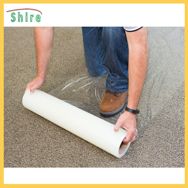 Self adhesive floor protection for dirt, staining and spillages