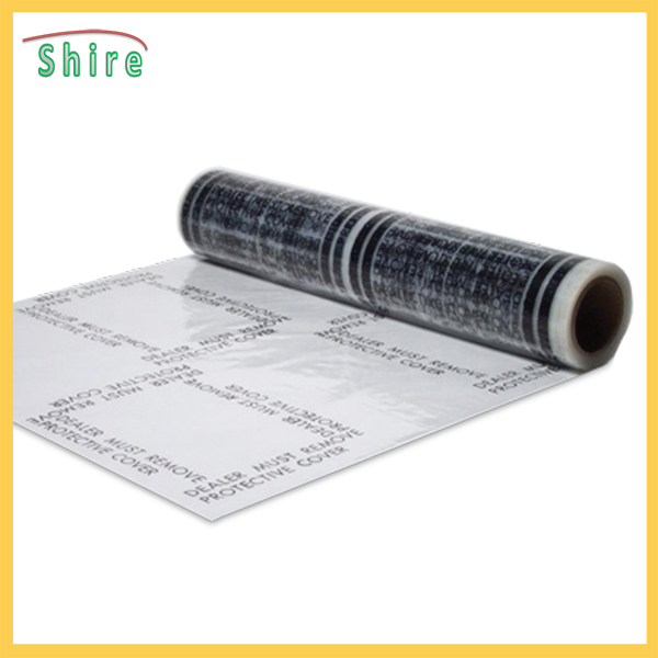 Automobile Carpet  shield  PE Protective Film  with dealer must remove printing