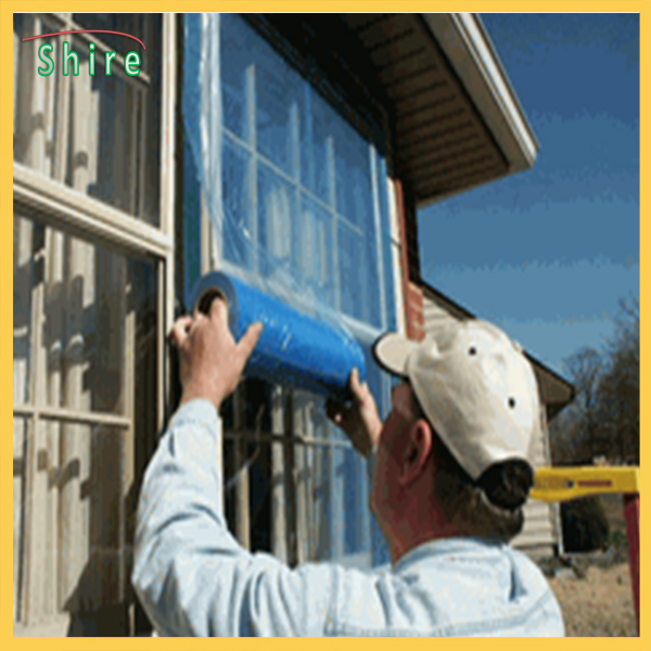 Blue Color Surface Shields Window Protection Film In Different Size