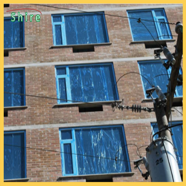 clear window glass surface protection film Blue transparent protective film