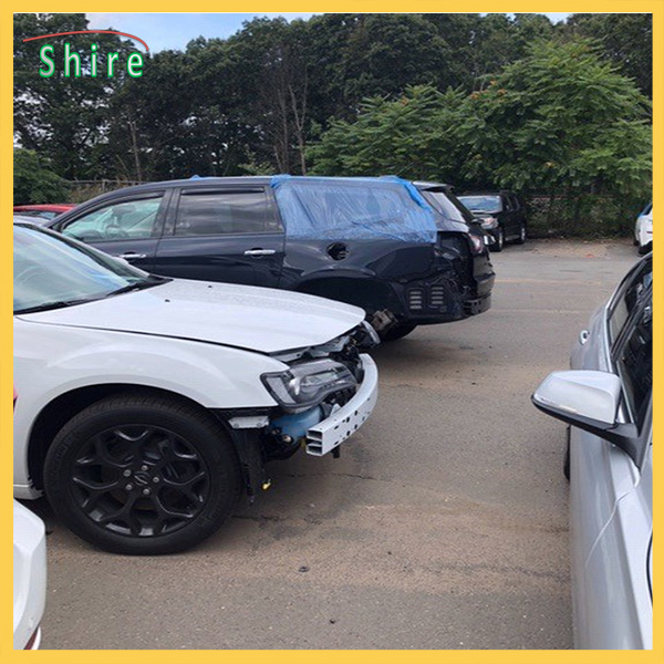 Autobody Weather Barrier Film Damaged Vehicles Protect Collision Wrap Film