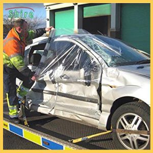 Collision Wrap Film Temporary Outdoor Storage Protection For Damaged Vehicles