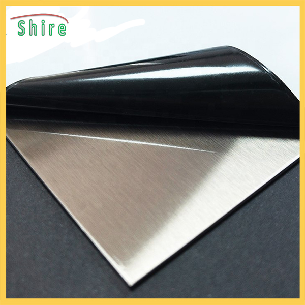 To be applied on various kinds of stainless steel surfaces and provide protecting effect, protection film for stainless steel sheet is able to prevent scraps, scratches, pollution on the stainless steel surface during transportation or processing. We can also see this film on many products in our daily life