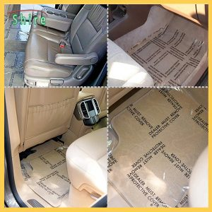 Auto Carpet Protective Film with Printing and Perforate car floor protection film